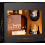 Ron Barceló Imperial 10 let dárková krabice se sklenicemi